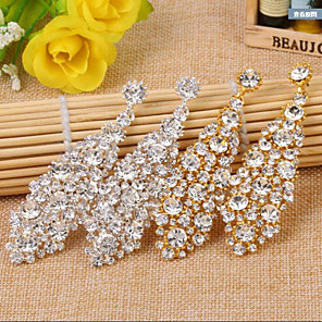 cheap Earrings-Alloy Earring with Crystals / Rhinestones 1 Pair Wedding / Daily Wear Headpiece