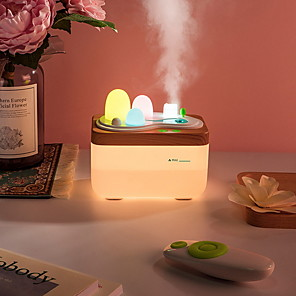 cheap Humidifiers-420ML Ultrasonic Air Humidifier USB Aroma Essential Oil Diffuser Fogger Mist Maker Remote Control with Light for Home Office