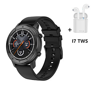 cheap Smartwatches-DT89 Smart Watch Full Circle HD  Sport Watch Men ECG Heart Rate Blood Pressure Smartwatch Women Menstrual Monitor WIth i7s Tws Wireless Headphones Bluetooth Earphones