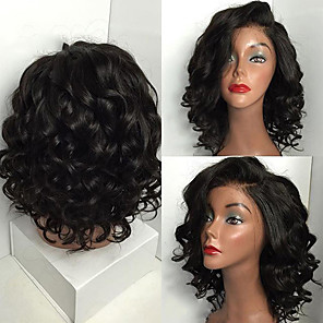 cheap Synthetic Trendy Wigs-Synthetic Wig Curly Asymmetrical Wig Long Wine Red Brown Black Synthetic Hair 18 inch Women's Party Exquisite Romantic Black Brown