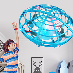 cheap Novelty Gadgets-Mini UFO Drone Anti-collision Flying Helicopter LED Light Magic Hand UFO Ball Aircraft Sensing Induction Drone Kid Electric Electronic Toy