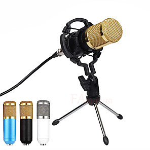cheap Hifi player-BM 800 Microphone Condenser Sound Recording Microphone With Shock Mount For Radio Braodcasting Singing Recording KTV Karaoke Mic
