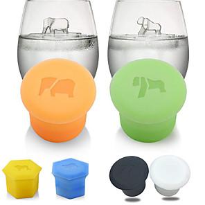 cheap Drinkware-1 Pair Ice Lattice Silica Gel Ice Bar Silica Gel Ice Grid Polar Bear Penguin Lion Elephant Hippo Orangutan