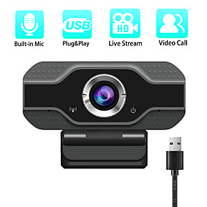cheap CCTV Cameras-1080P Full HD Webcam with Microphone USB Web Camera Streaming Computer Camera for Windows Mac PC120 Degrees Wide-Angle 30fps Large Sensor Superior Low Light for Video Calling Conferencing Gaming