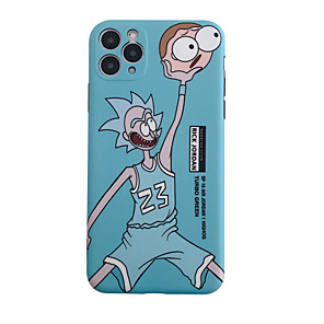 cheap iPhone Cases-Case For Apple iPhone 11 / iPhone 11 Pro / iPhone 11 Pro Max Rick and Morty Pattern Back Cover Cartoon TPU