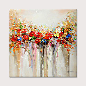cheap Abstract Paintings-Colorful Flowers Oil Paintings 100% hand-made Oil Painting on Canvas Texture Abstract Art Pictures Canvas Wall Art Paintings Modern Home Decor Abstract Paintings