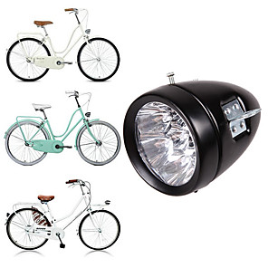 cheap LED Camping Lights-Bicycle Headlights Bike Lights Mountain Bike Retro Vintage Classic Headlights 3 LED Riding Lights Front Lights 2 Modes Night Riding Equipment Waterproof 160 Viewing Angle
