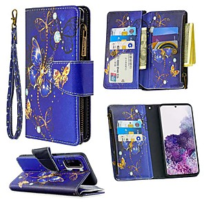 cheap Samsung Case-Case For Samsung Galaxy S20 Ultra S10E S9 Plus Wallet / Card Holder / with Stand Full Body Cases Butterfly PU Leather For Galaxy A10E A20E A10 A20 A30 A40 A50 A70