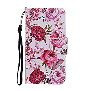 cheap Professional Tattoo Kits-Case For Huawei P Smart Z Y9 Prime 2019 2020 Y7P Nova 6SE P30 Pro P40 Lite E Honor 10 Lite Wallet Card Holder with Stand Full Body Cases Flower PU Leather