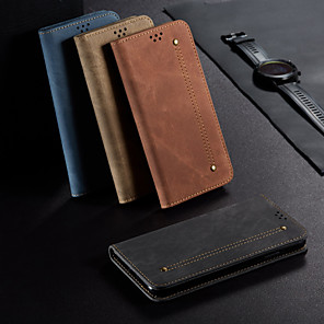 cheap Samsung Case-Case For Samsung Galaxy Galaxy A31 Wallet Flip Full Body Cases Lines Waves Solid Colored PU Leather