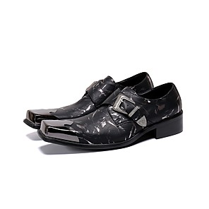 cheap Men's Slip-ons & Loafers-Men's Dress Shoes Summer Daily Party & Evening Loafers & Slip-Ons Cowhide Handmade Black