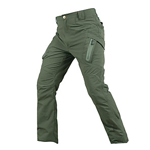cheap Hiking Trousers & Shorts-Men's Hiking Pants Tactical Pants Solid Color Outdoor Standard Fit Breathable Quick Dry Soft Nylon Pants / Trousers Bottoms Black Army Green Khaki Hunting Fishing Climbing S M L XL XXL