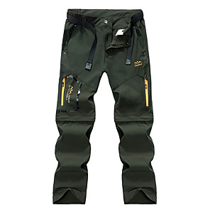 cheap Hiking Trousers & Shorts-Women's Hiking Pants Convertible Pants / Zip Off Pants Summer Outdoor Portable Breathable Quick Dry Sweat-wicking Spandex Pants / Trousers Bottoms Black Army Green Grey Khaki Camping / Hiking Fishing
