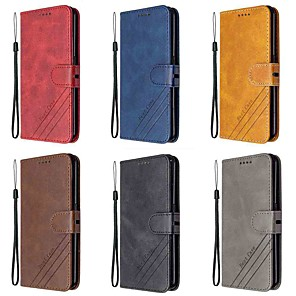 cheap Other Phone Case-Case For SonyXperia 1 II Xperia 10 II Wallet Card Holder with Stand Full Body Cases Solid Colored PU Leather TPU
