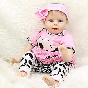 cheap Reborn Doll-Reborn Baby Dolls Clothes Reborn Doll Accesories Cotton Fabric for 22-24 Inch Reborn Doll Not Include Reborn Doll Cow Soft Pure Handmade Girls' 5 pcs