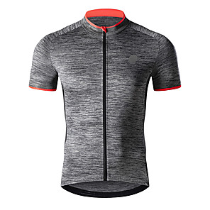 cheap Cycling Jerseys-TASDAN Men's Short Sleeve Cycling Jersey Polyester Blue Grey Bike Jersey Top Mountain Bike MTB Road Bike Cycling Breathable Quick Dry Reflective Strips Sports Clothing Apparel / Stretchy