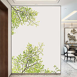 cheap Wall Stickers-Green Tree Wall Stickers Decorative Wall Stickers, PVC Home Decoration Wall Decal Wall Decoration / Removable