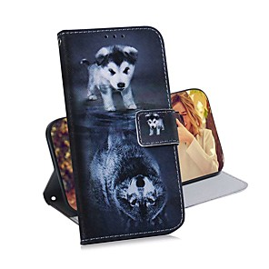 cheap Samsung Case-Case For Samsung Galaxy S20 Galaxy S20 Plus Galaxy S20 Ultra Wallet Card Holder with Stand Full Body Cases Wolf and Dog PU Leather TPU for Galaxy A51 A71 A70E A81 A91 A11 A31 A41 A21