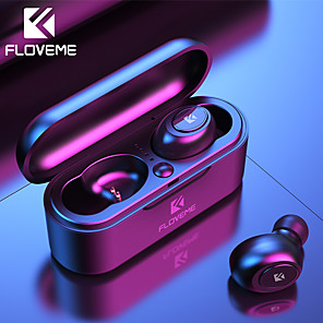 cheap TWS True Wireless Headphones-FLOVEME Mini TWS Wireless Headphones Bluetooth 5.0 Earphone Sport Headset 3D Stereo Sound with Micro Charging Box