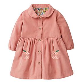 cheap Wedding Decorations-Toddler Girls' Fruit Long Sleeve Dress Blushing Pink