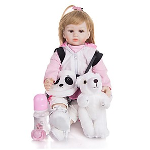 cheap Stuffed Animals-KEIUMI 19 inch Reborn Doll Baby & Toddler Toy Reborn Toddler Doll Baby Girl Gift Cute Lovely Parent-Child Interaction Tipped and Sealed Nails Half Silicone and Cloth Body with Clothes and Accessories