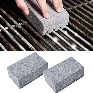 cheap Baking & Pastry Tools-BBQ Grill Cleaning Brick Cleaning Stone 2 Pcs