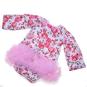 cheap Reborn Doll-Reborn Baby Dolls Clothes Reborn Doll Accesories Cotton Fabric for 22-24 Inch Reborn Doll Not Include Reborn Doll Flower Soft Pure Handmade Girls' 1 pcs
