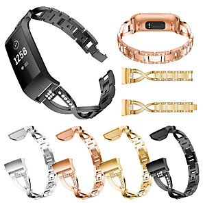 cheap Smartwatch Bands-Stainless Steel Watch Band for Fitbit Charge 4 / Fitbit Charge 3 Bands Metal Bracelet fashion Watch Wristbands for Fitbit Charge 4 / Fitbit Charge 3