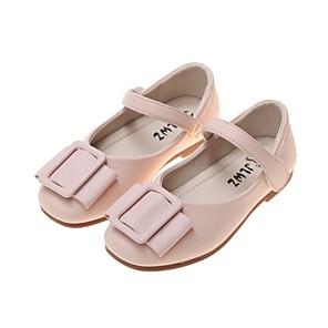cheap Kids' Flats-Girls' Comfort PU Flats Little Kids(4-7ys) White / Black / Pink Summer
