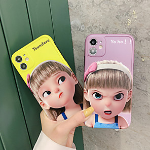 cheap iPhone Cases-Case For APPLE  iPhone7 8 7plus 8plus  XR XS XSMAX  X SE  11  11Pro   11ProMax Pattern Back Cover Word Phrase Cartoon TPU cute girls IMD
