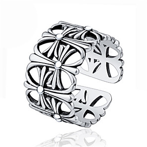 cheap Rings-Women's Ring 1pc Silver Platinum Plated Alloy Stylish Daily Jewelry Cute
