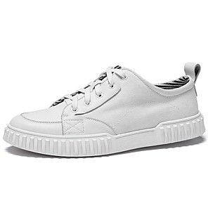 cheap Men's Sneakers-Men's Summer Daily Sneakers PU White