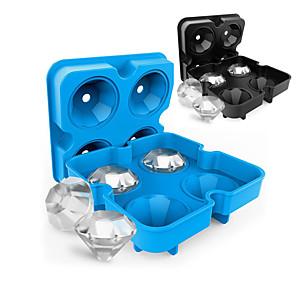 ราคาถูก เครื่องมือครัวแปลกใหม่-น้ำแข็งเครื่องมือเต็มร่างกายซิลิโคนน่ารักงานเลี้ยงตอนเย็น drinkware ซิลิกาเจล 4 ด้วยตาข่ายน้ำแข็งเพชร