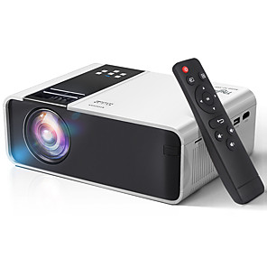 cheap Projectors-Mini Projector AT86 HD Native 1280 x 720P Support 1080P LED Android WiFi Projector Video Home Cinema 3D HDMI Movie Game Proyector TD90