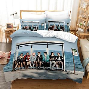 cheap 3D Duvet Covers-Home Textiles 3D Bedding Set  Duvet Cover with Pillowcase 2/3pcs Bedroom Duvet Cover Sets  Bedding BTS