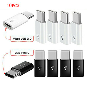 cheap USB Cables-10pcs Android Micro USB Adapter USB Female To Male Type-C Connector Adapter Micro-B To USB-C  Connector Charging Cable