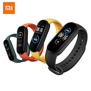 cheap Smartwatches-Original Xiaomi Mi Band 5 Smart Bracelet 1.1 AMOLED Colorful Screen Heart Rate Fitness Tracker Bluetooth 5.0 Waterproof Mi Band 5-China Verson