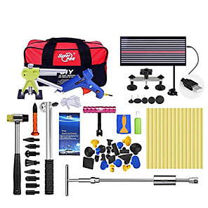 cheap Vehicle Repair Tools-Super PDR Tools Dent Repair Tool Auto Ferramentas Dent Puller Suction Cup Paintless Dent Removal Kit Line Board Hand Tools Sets
