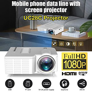cheap Projectors-UC28C Portable Video Projector Office Supplie LCD Mini Projector Media Player For Smart Phones