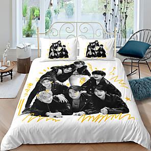 cheap 3D Duvet Covers-BTS Home Textiles 3D Bedding Set  Duvet Cover with Pillowcase Bedroom Duvet Cover Sets  Bedding BTS