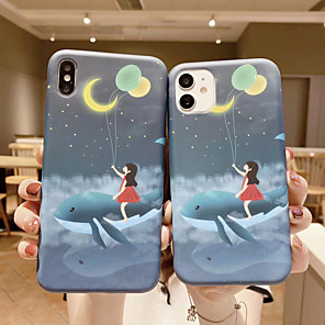 cheap Abstract Paintings-Case For APPLE  iPhone 6 7 8 6plus 7plus 8plus  XR XS XSMAX  X SE  11  11Pro   11ProMax Pattern Back Cover Little Girl Cartoon TPU