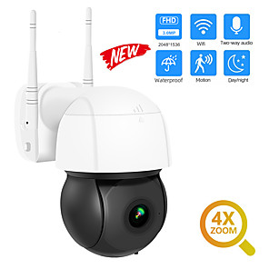 cheap Outdoor IP Network Cameras-DIDSeth 3MP Wifi IP Camera PTZ 4X Digital Zoom Auto Tracking ONVIF Security CCTV Camera Audio AI Human Detection Outdoor Cam