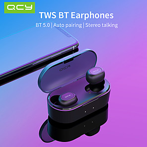 cheap TWS True Wireless Headphones-QCY T2S TWS Wirless Earbuds Dual 3D Stereo Bluetooth Headphones Waterproof IPX4 For All Phones