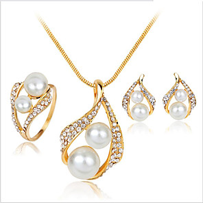 cheap Jewelry Sets-Women's Bridal Jewelry Sets Earrings Jewelry Gold For Wedding Party Daily Festival 1 set