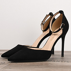 cheap Women's Heels-Women's Heels Summer Stiletto Heel Pointed Toe Daily PU Nude / Black / Red