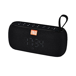 cheap Portable Speakers-TG177 Bluetooth Speaker Wireless Subwoofer With Alarm Clock Temperature Display USB Drive TF Card Music Stereo Sound Box