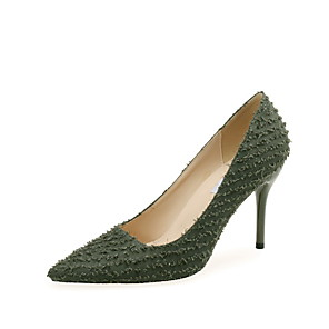 cheap Women's Heels-Women's Heels Spring / Fall Pumps Pointed Toe Wedding Party & Evening Satin White / Black / Green