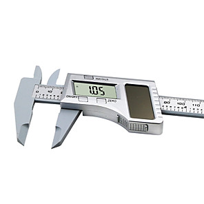 cheap Level Measuring Instruments-Solar Plastic Caliper  0-150mm LCD Digital Solar Caliper 6 inch Electronic Vernier Caliper Gauge Micrometer Measuring Tool Height Measuring Instruments