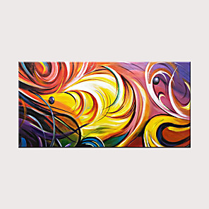 cheap Abstract Paintings-Handmade Abstract Landscape Canvas Wall Art Contemporary Modern Oil Painting