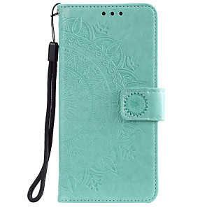 cheap OPPOCase-Case For OPPO realme 6 Pro / Oppo Find X2 / Oppo A8 / A31 Card Holder / Flip / Pattern Full Body Cases Flower PU Leather / TPU